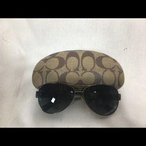 Coach aviator sunglasses.